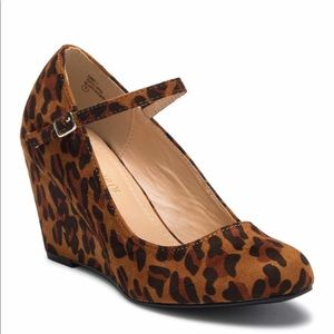 Leopard Suede Wedge